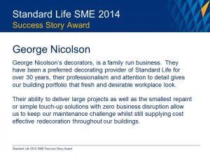 GND Standard Life Award 2014 pic