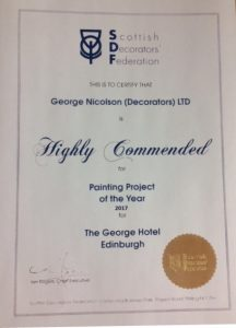SDF Highly Commended Painting Project of the Year 2018